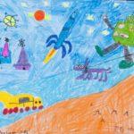 Aaliyn Azhar: Second Place Drawing, PreK - 2nd Grade, Pakistan